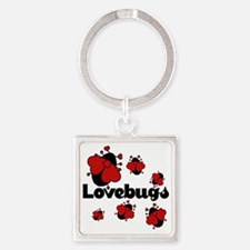 Love bugs Square Keychain