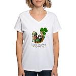 Irish Luck Women's V-Neck T-Shirt