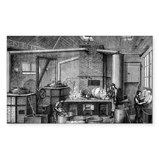 Canning kitchen, 19th century Decal