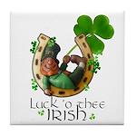 Irish Luck Tile Coaster