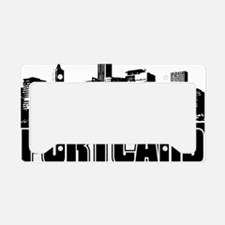 portland skyline license plate holder