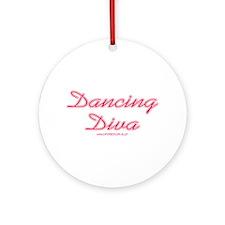 Dancing Diva (pink) Ornament (Round)