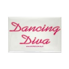 Dancing Diva (pink) Rectangle Magnet