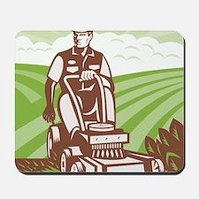 Gardener Landscaper Riding Lawn Mower Re Mousepad