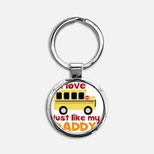 I love School Bus (Just Like Daddy) Round Keychain