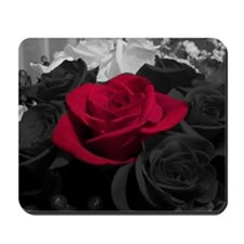 Red rose pop color Mousepad