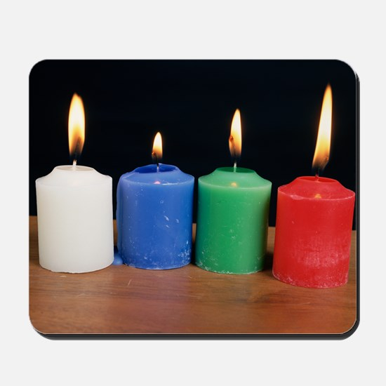Candles under white light Mousepad