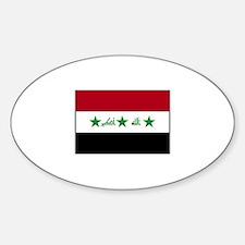 Iraqi Flag - Iraq Oval Decal