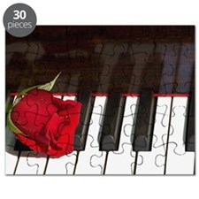 Rose on piano Puzzle