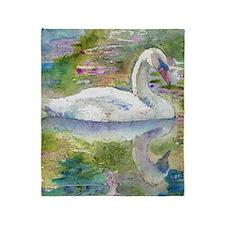 Swan Song Bathroom Throw Blanket