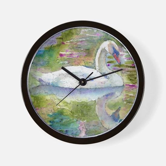 Swan Song Bathroom Wall Clock