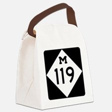 Michigan State Highway M-119 Canvas Lunch Bag