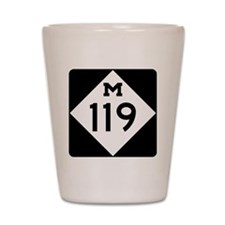 Michigan State Highway M-119 Shot Glass
