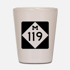 Michigan State Highway M-119 Shot Glass