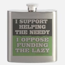I support helping the needy/I oppose funding Flask