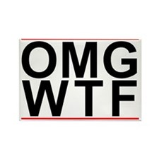 Omg-Wtf Rectangle Magnet