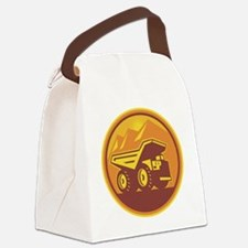 Mining Dump Truck Retro Canvas Lunch Bag