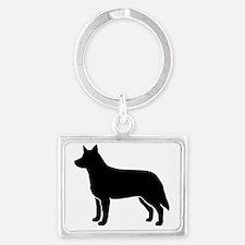Australian Cattle Dog Landscape Keychain