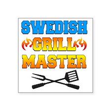 """Swedish Grill Master Apron Square Sticker 3"""" x 3"""""""