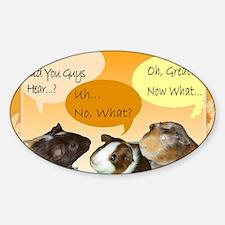 Piggy Greeting Card Sticker (Oval)