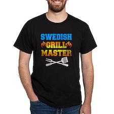 Swedish Grill Master Dark Apron T-Shirt