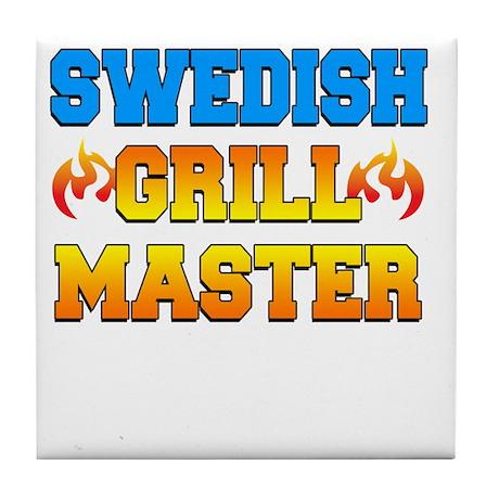 Swedish Grill Master Dark Apron Tile Coaster