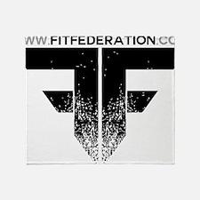 FF Logo Black on White Throw Blanket