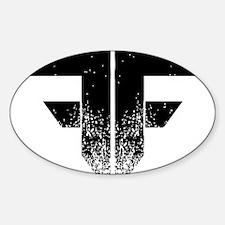 FF Logo Black on White Decal