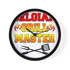 Belgian Grill Master Apron Wall Clock