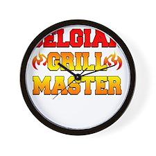Belgian Grill Master Dark Apron Wall Clock