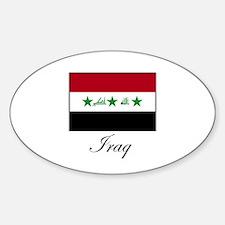 Iraq - Iraqi Flag Oval Decal