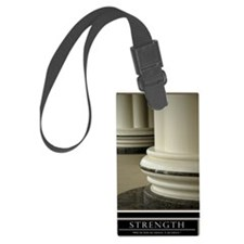 Large Strength Motivational Post Luggage Tag