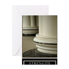 Large Strength Motivational Poster H Greeting Card