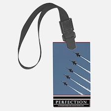Large Perfection Motivational Po Luggage Tag