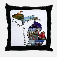 Love Michigan Throw Pillow
