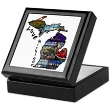 Love Michigan Keepsake Box