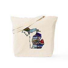 Love Michigan Tote Bag