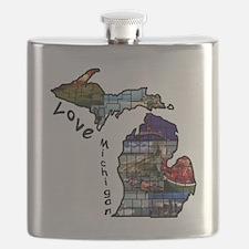 Love Michigan Flask