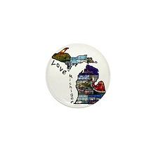 Love Michigan Mini Button