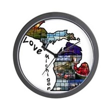 Love Michigan Wall Clock