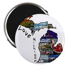 Love Michigan Magnet
