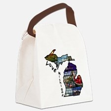 Love Michigan Canvas Lunch Bag