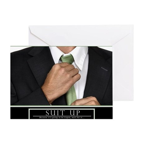 Large Horizontal Suit Up Poster HIMY Greeting Card