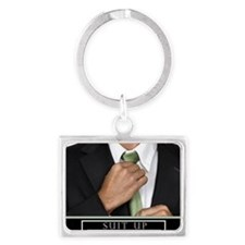 Large Horizontal Suit Up Poster Landscape Keychain