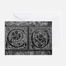 CO initials. Vintage, Floral Greeting Card