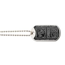 DF initials. Vintage, Floral Dog Tags