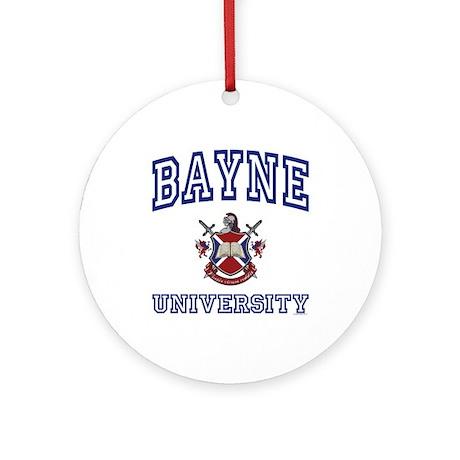 BAYNE University Ornament (Round)