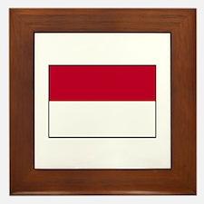 Indonesian Flag - Indonesia Framed Tile