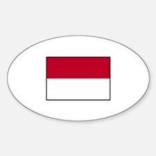 Indonesian Flag - Indonesia Oval Decal