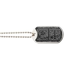 CT initials. Vintage, Floral Dog Tags